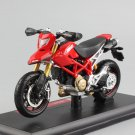 Ducati Hypermortad 1100S Red 1:18 Die Cast Metal Motorcycle Model Miniature