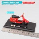 Vespa 98 GTR 1946 Red 1:18 Die Cast Metal Motorcycle Model Miniature