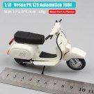 Vespa PK 125 Automatica 1984 White 1:18 Die Cast Metal Motorcycle Model Miniature