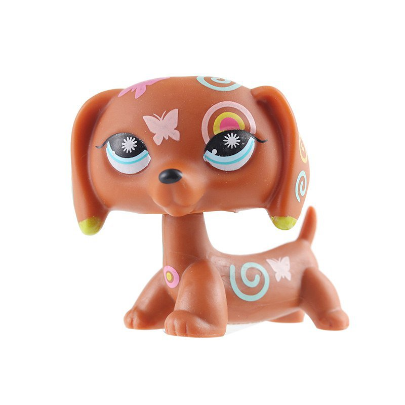 Dog Choco Art butterfly with Strip Blue Eye Little Pet Shop 1:60 LPS Cute Collection
