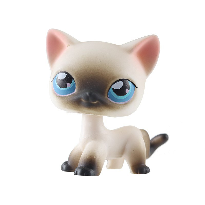 Cat White Nose Black with Strip Blue Eye Little Pet Shop 1:60 LPS Cute Collection
