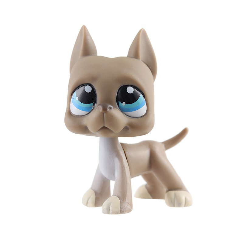Dog Male Brown with Strip Blue Eye Little Pet Shop 1:60 LPS Cute Collectio