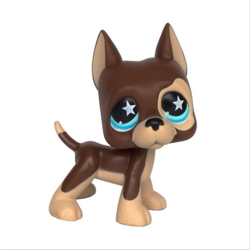 Dog Male Choco Weld Face with Strip Blue Eye Little Pet Shop 1:60 LPS Cute Collection