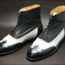 Handmade Wing Tip Leather Boots Ankle High Trendy Fashion Style Formal New Boot