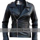 NWT Black Brando Men Women Unisex Genuine Leather Jacket - 100% Genuine Leather