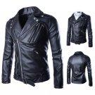 2018 New fashion Men's jackets Short Slim Collar motorcycle leather jacket coat
