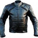 Homemade  Black Padded Costume Genuine Biker Motorcycle Genuine Leather Jacket