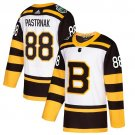 Men's Bruins #88 David Pastrnak White 2019 Winter Classic Stitched Jersey