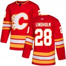 Men's Calgary Flames #28 Elias Lindholm Red Alternate Stitched Jersey