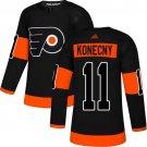 Men's Philadelphia Flyers #11 Travis Konecny Black Alternate Stitched Jersey