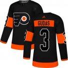 Men's Philadelphia Flyers #3 Radko Gudas Black Alternate Stitched Jersey