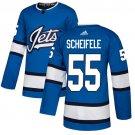 Men's Winnipeg Jets #55 Mark Scheifele Blue Alternate Stitched Jersey