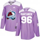 Mikko Rantanen Men's Colorado Avalanche Fights Cancer Purple Stitched Jersey