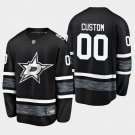 2019 NHL All-Star Dallas Stars #00 Custom Game Parley Black Jersey