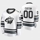 2019 NHL All-Star Minnesota Wild #00 Custom Game Parley White Jersey