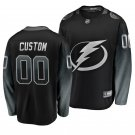 Men's Lightning #00 Custom Alternate Black Player Jersey