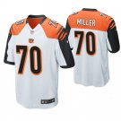 Cincinnati Bengals #70 John Miller White Game Jersey
