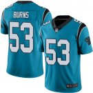 Men's Football Panthers 53 Brian Burns Blue Limited Jersey