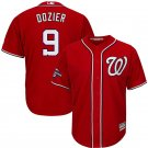 Men's Nationals #9 Brian Dozier Red 2019 World Series Champions Cool Base Jersey