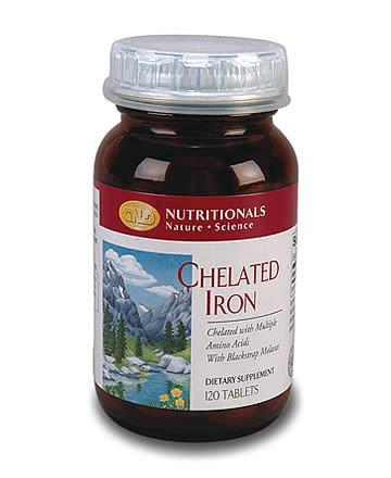 Iron, Chelated (120 tablets) single