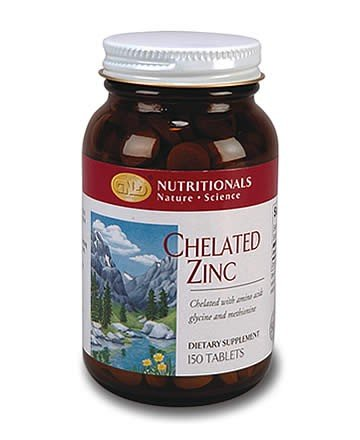 Zinc, Chelated (150 tablets) case Qty. 6
