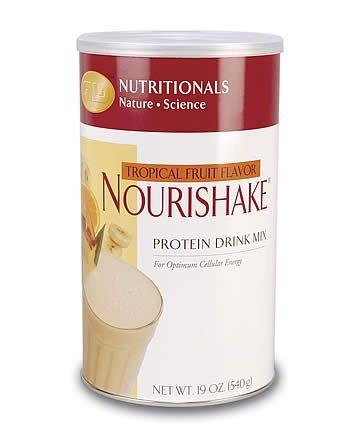 NouriShake Drink Mix-Tropical Fruit (19 oz.) case Qty.6