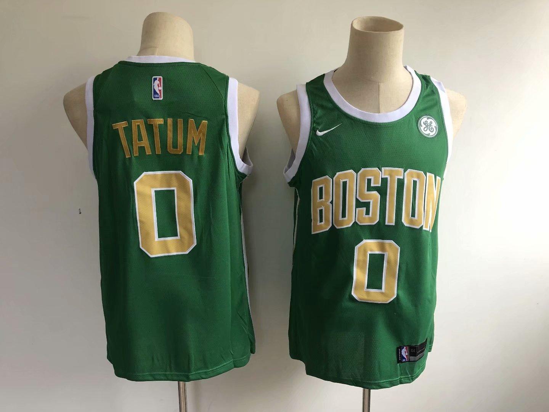 hot sale online bd348 26eb6 Men's Boston Celtics Jayson Tatum Green Earned Edition Basketball Jersey  Stitched