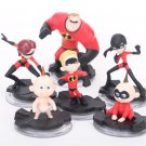 Disney The Incredibles 2 Action Figure 7-10cm 6pcs/set Posture Anime Decoration Collection Figurine