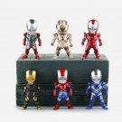 Disney Marvel Avengers Iron Man 3 6pcs/set 10cm Action Figure Anime Decoration Collection Figurine T
