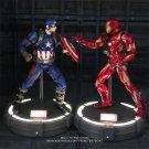 Disney Marvel Avengers Captain America Iron Man With Base 18cm Action Figure Anime Mini Decoration P