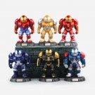 Disney Marvel Avengers Hulkbuster 10cm 6pcs/set Action Figure Anime Decoration Collection Figurine T