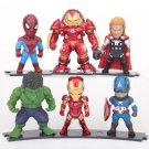 Disney Marvel Avengers Iron Man Hulk Captain America Thor 6pcs/set Q Version Action Figure Anime Col