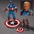 Disney Marvel Avengers Captain America 16.5cm Action Figure Anime Mini Decoration PVC Collection Fig