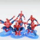 Disney Marvel Avengers Spider Man 7pcs/set 11cm Action Figure Posture Model Anime Decoration Collect