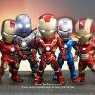 Disney Marvel Avengers Iron Man 5pcs/set 9cm Action Figure Posture Anime Decoration Collection Figur
