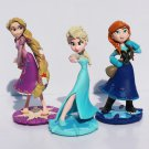 Disney Frozen 3pcs/Set 5cm Movie Toys Anna Elsa Action Figure Cake Ornament Model Anime Collection F