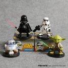 Star Wars The Force Awakens Darth Vader Yoda R2-D2 Stormtrooper Mini Figures 6cm 4pcs/set