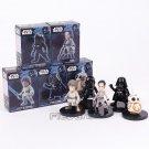 Star Wars The Last Jedi Rey Darth Vader BB-8 Luke Skywalker Tie Fighter Pilot Figures 5pcs/set 6.5cm