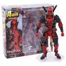 NO.001 Deadpool Gray Color Action Figure 15cm - Red