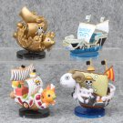 Anime One piece 4pcs/set Pirate Ship THOUSAND SUNNY Going Merry Figure Model Toys for Children packa