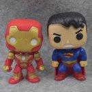 9pcs/set DC Justice League & Marvel Avengers Flash Superman Spiderman Batman Thor Hulk Ironman Vinyl