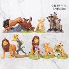 9pcs/set Cartoon Anime Lion King Animal Timon Loin Simba Pig Pumbaa Action Figure Toys pack by bag
