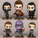 Disney Marvel Avengers 4 Thor Thanos 6pcs/set 10.5cm Action Figure Anime Decoration Collection Toy m