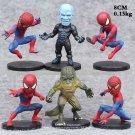 Disney Marvel Avengers spider 6pcs/set 8cm Action Figure Anime Mini doll Decoration PVC Collection F
