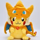 22CM POKEMON Plush Toy Hat Dolls cosplay Pocket Monster Pikachu Game Poke Yellow Action Figure Model