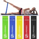 U-POWEX Resistance Bands Set of 5 Exercise Bands for Booty, Crossfit, with 100% Life Time Guarantee