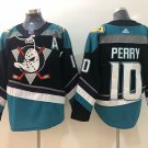 Corey Perry Men's Anaheim Ducks Stitched Black Teal Jersey