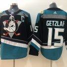 Ryan Getzlaf Men's Anaheim Ducks Stitched Black Teal Jersey
