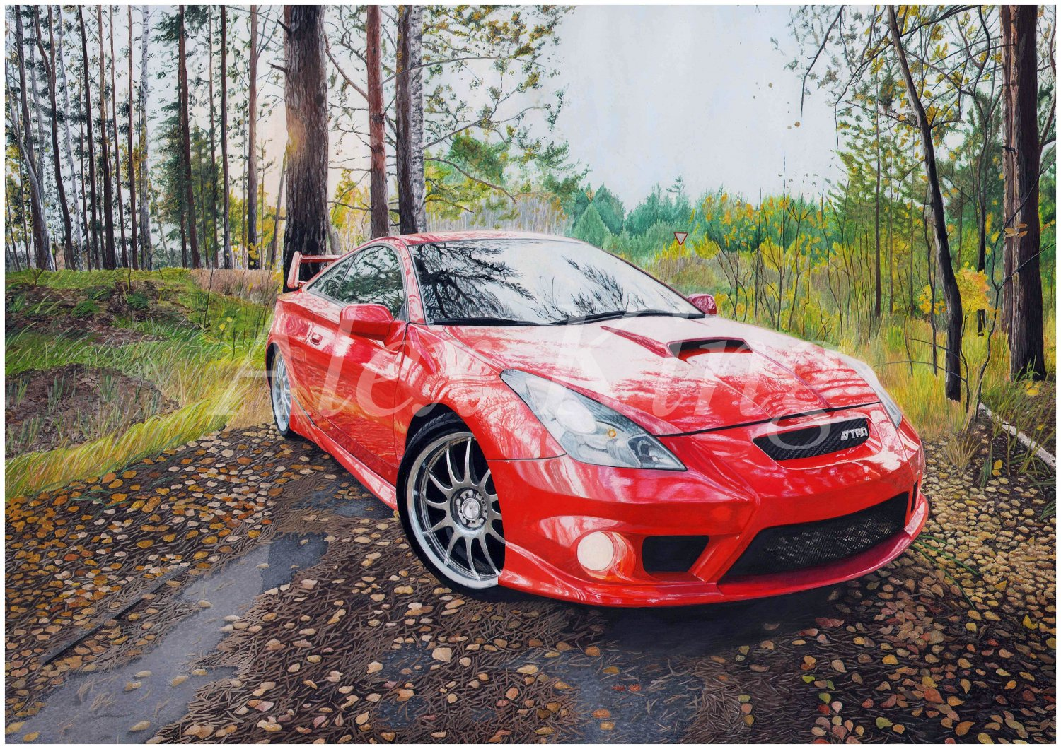 Realistic car drawing to order. Only handmade. Custom Drawing. Original drawing. Picture