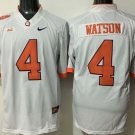 Men Clemson Tigers 4 Deshaun Watson White College Football Stitched Jersey